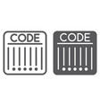 barcode line and glyph icon retail and strip vector image vector image