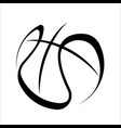 basketball black outline symbol silhouette vector image vector image
