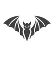 bat glyph icon halloween and scary animal sign vector image vector image