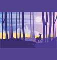 beautiful scene nature peaceful landscape vector image vector image