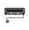 black Air conditioner icon vector image