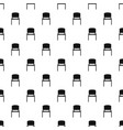 black office chair pattern vector image vector image
