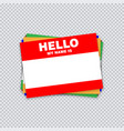 blank template tag my name is different color vector image vector image
