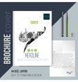brochure cover template with blurred city vector image vector image