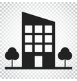 building with trees icon business simple vector image