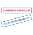 cardiovascular textile stamps vector image vector image