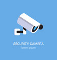 cctv surveillance system security camera vector image