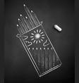 chalk drawn pencil box vector image