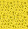 chemistry line seamless pattern with yellow vector image vector image