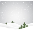 christmas snow hills vector image vector image