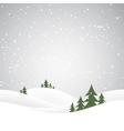 christmas snow hills vector image