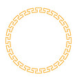 circle golden frame vector image