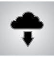 Cloud download vector image vector image
