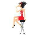 Cocktail girl vector | Price: 1 Credit (USD $1)
