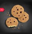 cookies on chalkboard background vector image