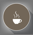 cup sign with three small streams of smoke vector image vector image