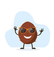 cute and funny coconut character vector image vector image