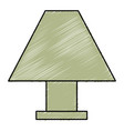 elegant table lamp icon vector image vector image