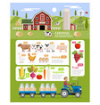farming infographic elements template vector image