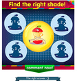 Find the right shade apple 3 vector image vector image
