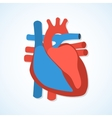 Flat design icons of human heart vector image