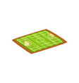football or soccer stadium green sports ground vector image