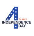 fourth of july independence day white background v vector image vector image