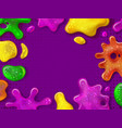 glitter slime glossy goo splashes and sticky vector image vector image