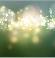 green bokeh lights background vector image vector image