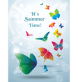 Greeting card with butterflies vector image vector image