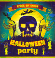 Halloween Party design template for vector image vector image