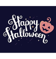 halloween with text happy halloween and ora vector image