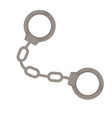 handcuffs police accessory arrest justice vector image