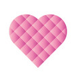 heart mosaic of square tiles with pink gradients vector image vector image