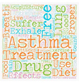 How Asthma Sufferers Can Live Drug Free and vector image vector image