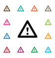 isolated warning icon highway element can vector image
