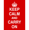 keep calm and carry vector image vector image
