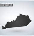 map kentucky isolated black on white background vector image vector image