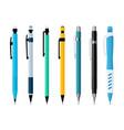 mechanical pencils set various designs vector image vector image