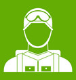 military paratrooper icon green vector image vector image