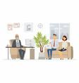 office head consultation - modern cartoon vector image vector image