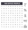 office people line icons signs set vector image vector image