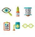 Optical Icons Ophthalmology set vector image