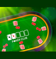 poker table with the cards and chips background vector image