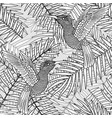 seamless pattern background with tropical plants vector image vector image