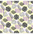 seamless pattern with grunge textures fashion vector image vector image