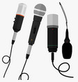 set object microphone vector image vector image
