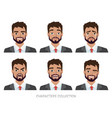 set of emotions for business manyoung male in a vector image