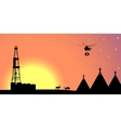 Silhouettes of the northern landscape vector image vector image