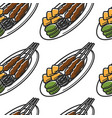singapore cuisine seamless pattern satay dish and vector image vector image